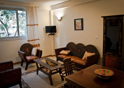 Ekko Apartments and Guest House Addis Ababa Two Bedroom Living Area